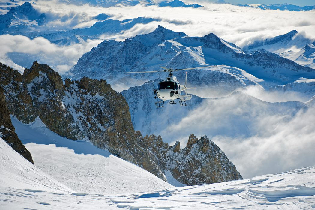 Heli-skiing in The Alps